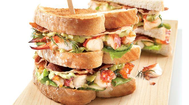 Club Sandwich au Homard, Mayonnaise Limette et Avocat