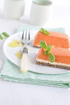 Cheesecake à la mousse de poivrons & chèvre frais