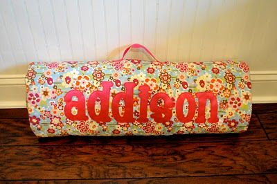 "That Village House: Make your own Nap Mat. This is so cute, and not just for toddlers and kids. This will make a fantastic ""tummy time"" mat for my baby!"