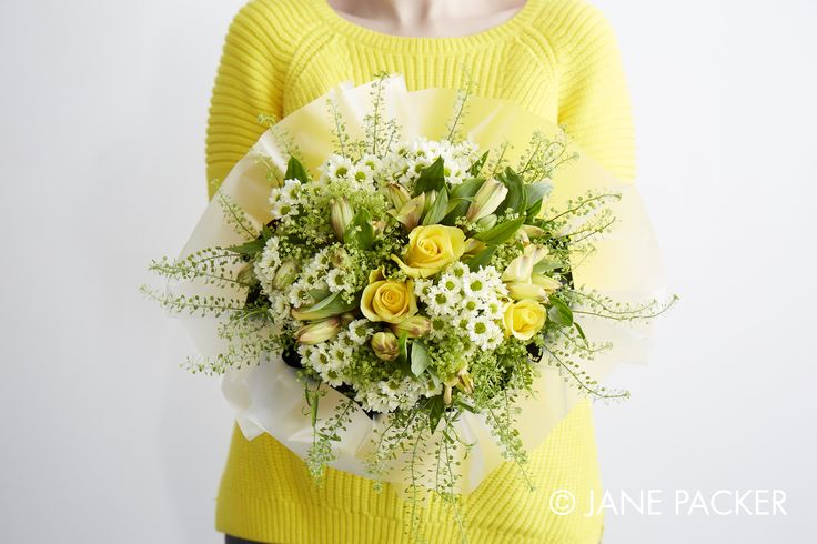 """Lemon"" Bouquet from the Jane Packer Online collection - Summer Fruits 2016"
