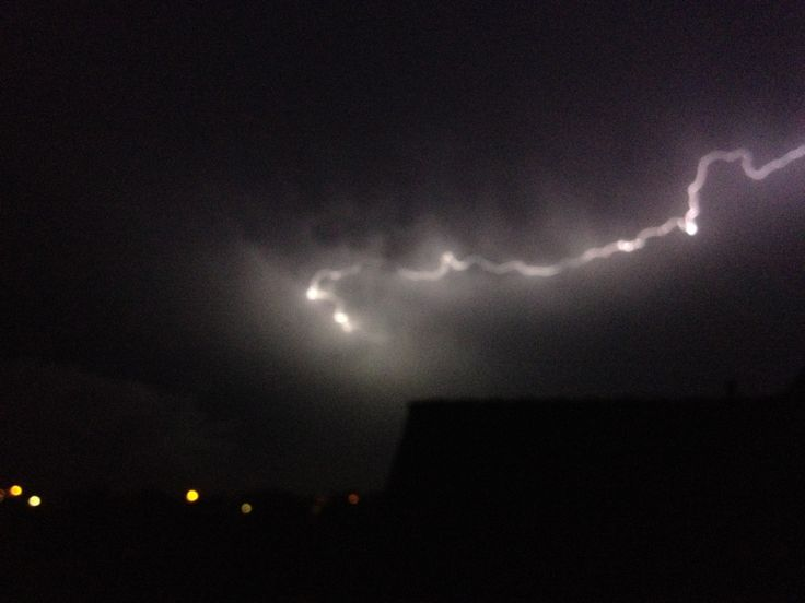 Onweersbui in de nacht van 7 op 8 juni 2014
