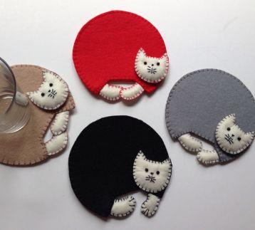 Şirin Kediler Bardak Altlığı