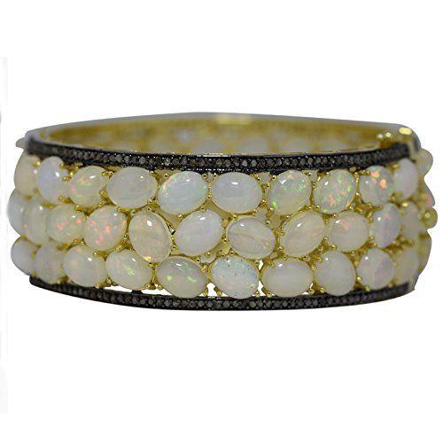 Shine Jewel Sterling Silver Fire Opal Arround Champange Diamond Gold Plated Wedding Bangle