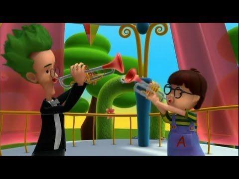 Alex - La trompeta - Música y los instrumentos - dibujos educativos para niños - YouTube