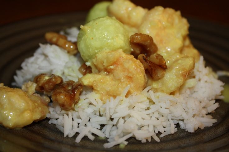 One of my very favorite entrees at P.F. Chang's is their shrimp with walnuts and melon. It's such an unusual combination of flavors, and if I were a recipe developer, I'd never have thought to com...