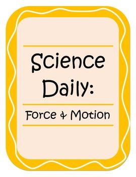Science Daily - Force and Motion
