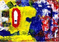 is it hump day yet e9Art ACEO Outsider Art Brut Raw Painting Original Miniature