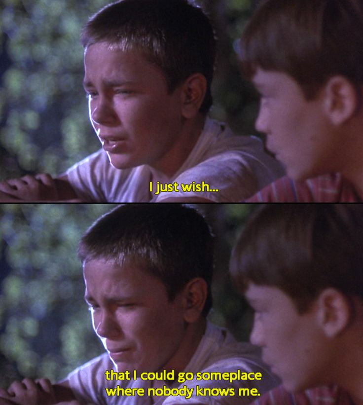 Stand By Me-when I watch this scene I just want to jump into the tv and hug River and then I cry