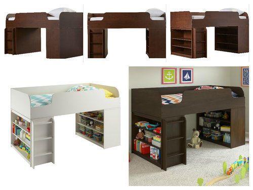 Loft-Bed-For-Kids-Student-Storage-Frame-Wood-Bedroom-Furniture-Bookcase-Teens