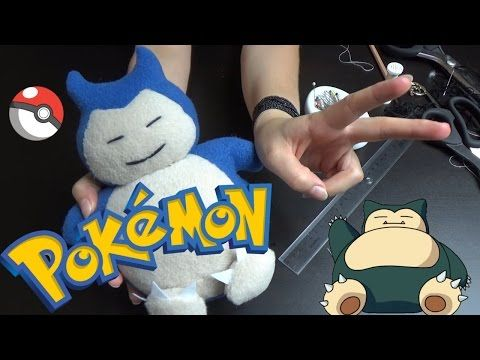 Speed Sewing: Snorlax - YouTube