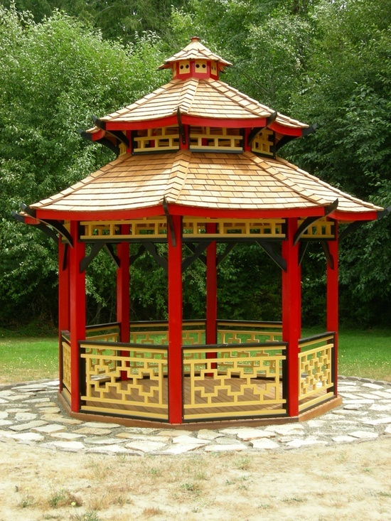 Homeownerbuff gazebo oriental roof visit us http for Japanese style gazebo plans