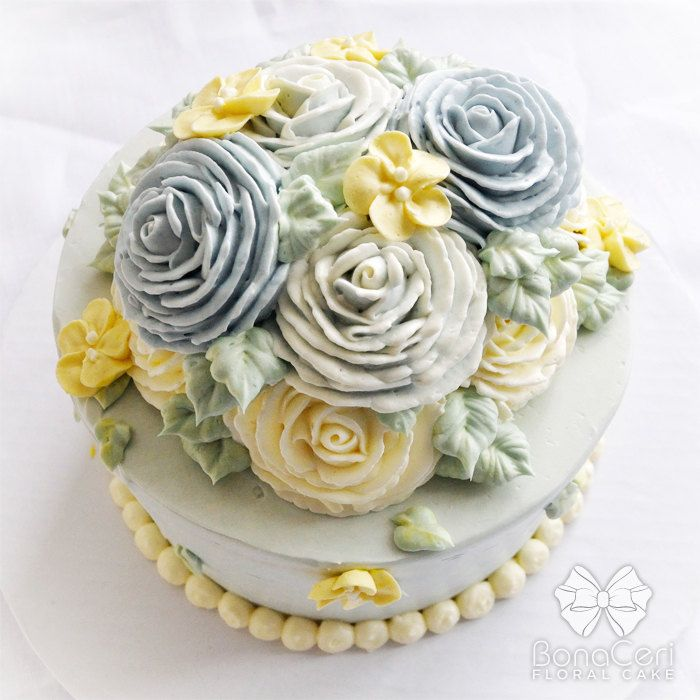 Bouquet buttercream cake
