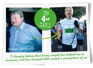 LighterLife isn't just for the ladies! Here's Mike Beckett, who joined LighterLife along with his wife Deborah and went on to lose 4st. This month, he's running the London Marathon for the second time. Go Mike!