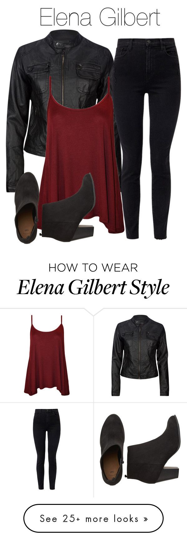"""""""Elena Gilbert Inspired Outfit"""" by demiwitch-of-mischief on Polyvore featuring Ci Sono by Cavalini, J Brand and WearAll"""