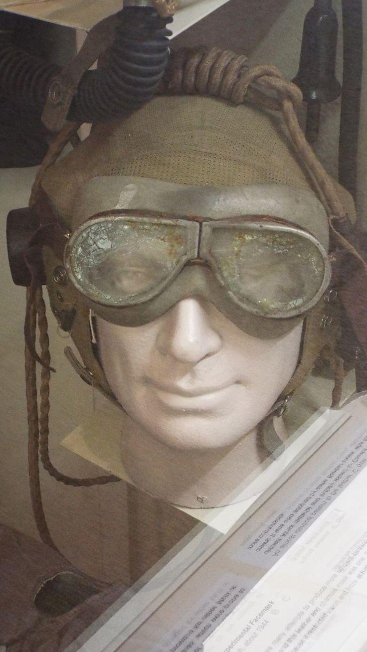 Flying helmet Yorkshire Air Museum Elvington