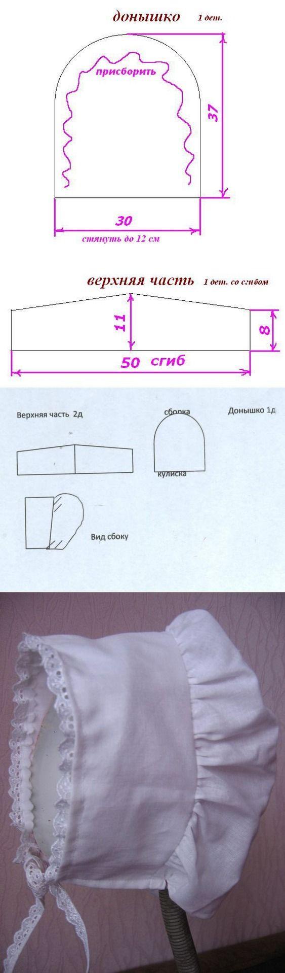 чепчик выкройка для новорожденного: 26 тис. зображень знайдено в Яндекс.Зображеннях