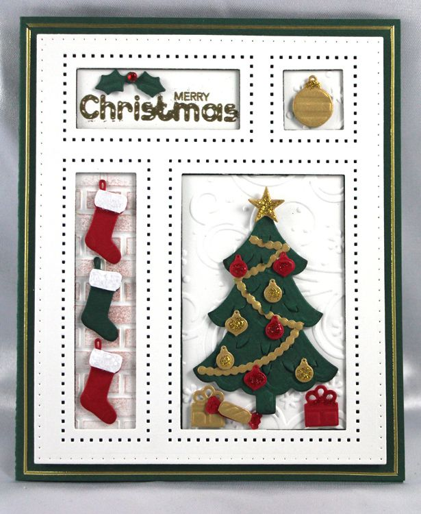 Sue Wilson Dies -Festive Collection - Christmas Shadow Box