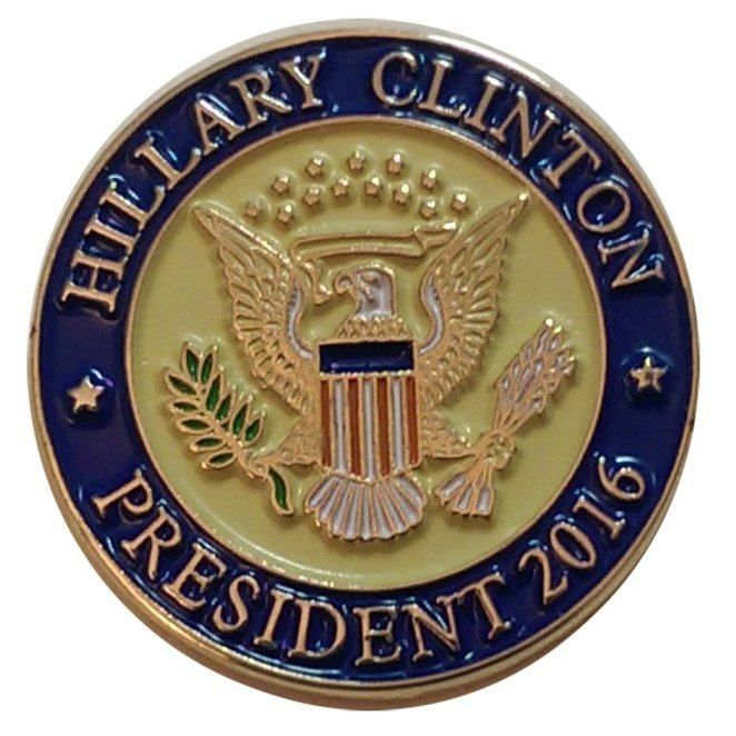 Wear Your Support Proud With This Hillary Clinton Lapel Pin
