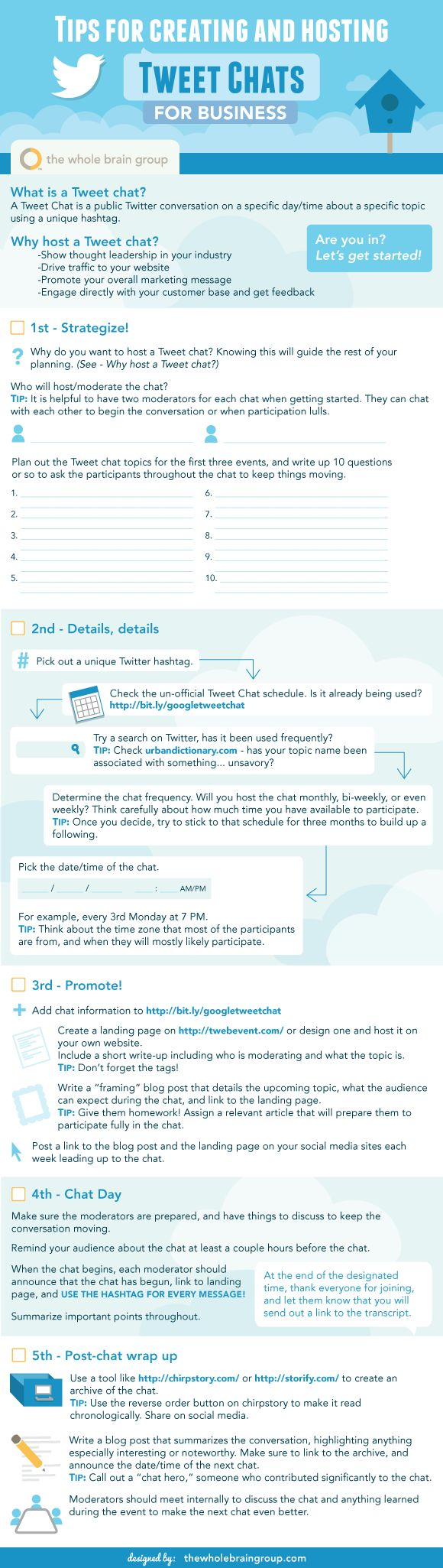 Tweet Chat Checklist for Businesses