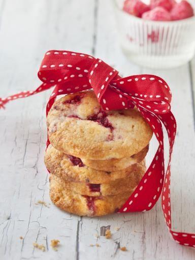 Cookie à la framboise - Recette de cuisine Marmiton : une recette