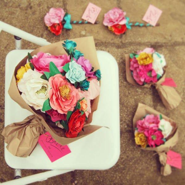Amazing paper flowers. Heart handmsade uk