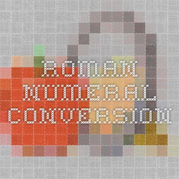 roman numeral conversion
