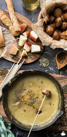 Our Irish Whiskey Cheddar Fondue is so ooey-gooey we can hardly contain ourselves! This Cheddar Fondue Recipes comes just in time for St. Patrick's Day. Break out the skillet and grab the wine, everyone at your St. Patty's Day-themed party will melt over this Fondue Recipe.