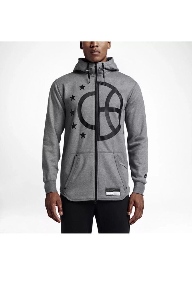 ee3cc5fd8a0dd8 Nike AIR Pivot Basketball full zip hoodie 802625-091 GRAY BLACK Sz XXL 2XL   NIKE  CoatsJackets