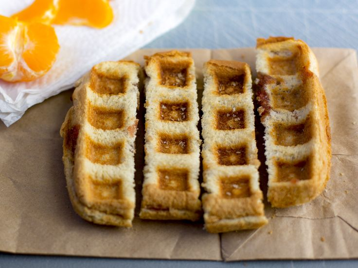 Waffled Peanut Butter and Jelly : Waffle machines are fun to use, and nowadays you can waffle just about anything. For this recipe, just make your usual PB&J and waffle it!