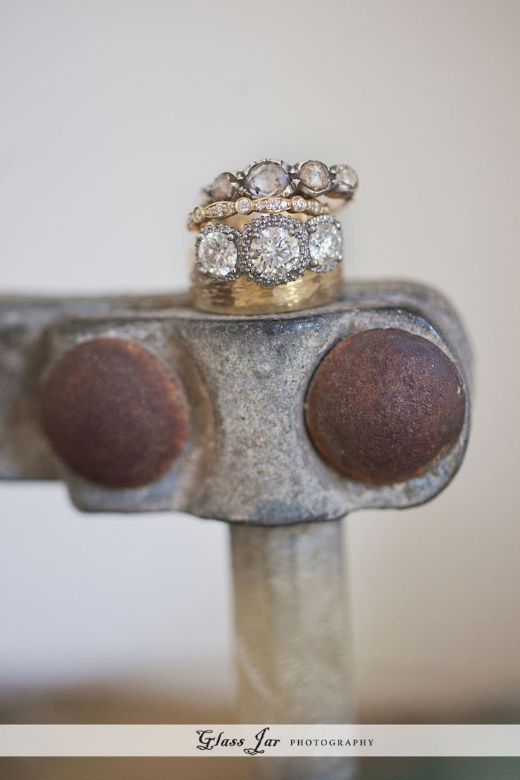 Nikki Reed's engagement and wedding rings.  Glass Jar Photography.  I love these so much.