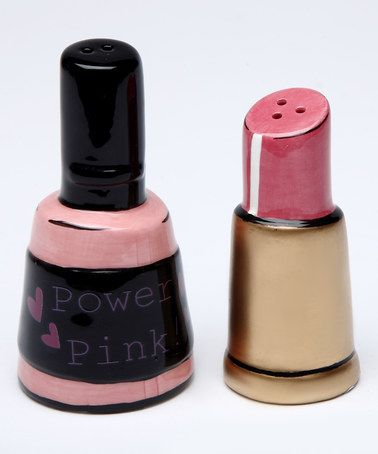 Loving this Nail Polish and Lipstick Salt & Pepper Shaker on #zulily! #zulilyfinds
