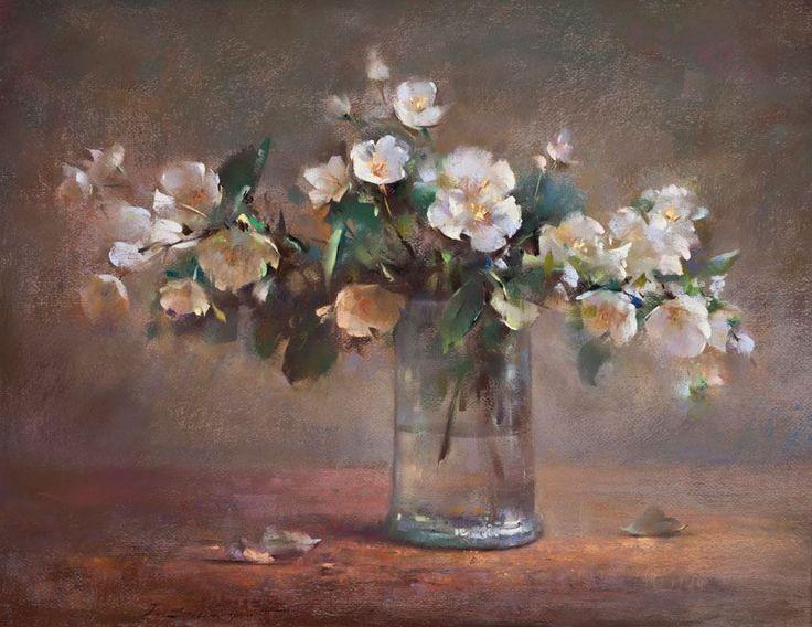 "https://www.facebook.com/MiaFeigelson ""Flowers in a glass vase"" By Javad Soleimanpour, from Tebriz, Iran (current location, Istambul) (b. 1965) - pastel painting - https://www.facebook.com/javad.soleimanpour http://www.artistsinpastel.com/2012/03/javad-soleimanpour-new-show.html http://www.sevensanatgalerisi.com/ENG/ic_kategori.asp?gorev=galeri&katagori=Javad+Soleimanpour&shf=16"