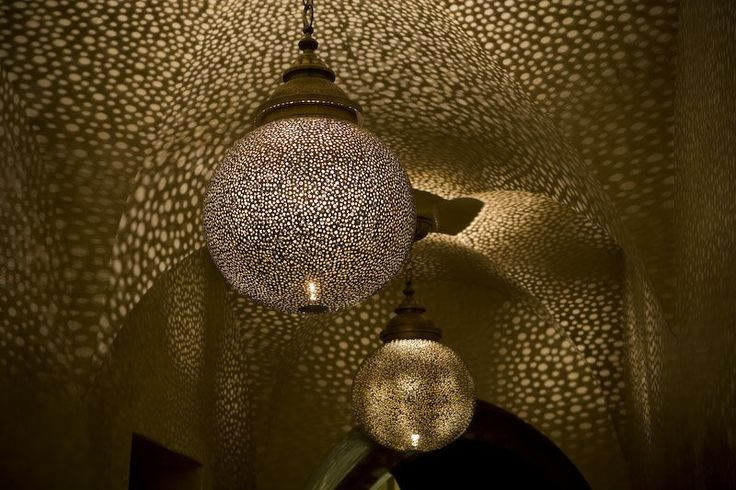 I love these Moroccan style lights.  I wish I had a room they would work in.