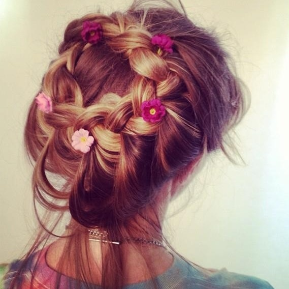 Perfect festival hair the wonders of an updo braid and flowers x