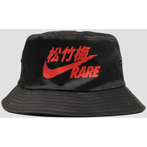Rare Air Black/Red Bucket Hat ($8) ❤ liked on Polyvore featuring accessories, hats, bucket hats, fishing hat, black bucket hat, red hat, black fisherman hat and fisherman hat