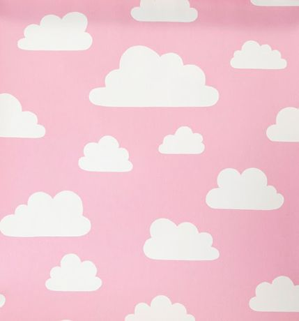 Kjøp Färg & Form Rullegardin Skyer Rosa 80 cm | Barnerommet Tekstiler | Jollyroom