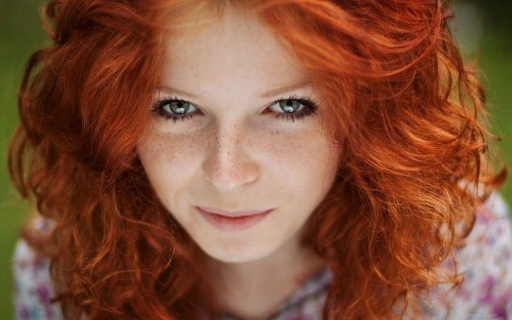 Рыжая девушка - Обои для рабочего стола, картинки, фоны, заставки