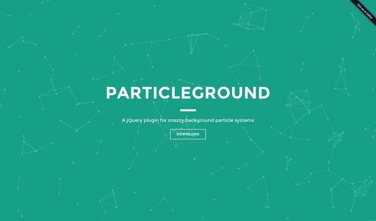 Interactive Background | Particle Ground http://jnicol.github.io ...