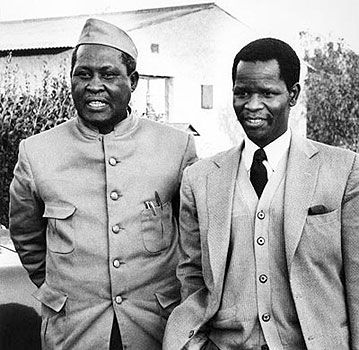 Chief Albert Luthuli and Oliver Tambo