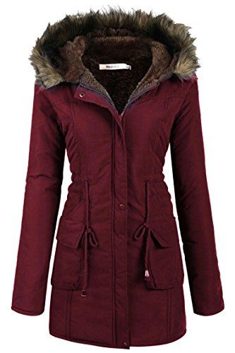 68ccf56c43 Beyove-Womens-Military-Hooded-Warm-Winter-Faux-Fur-Lined-Parkas-Anroaks-Long -Coats