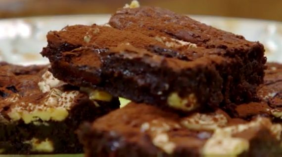 brownies a James Martin recipe. I'll try using rice flour or gluten free flour instead of the plain flour.