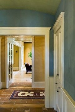 Benjamin Moore's 691 - dartsmouth green (their spelling) and for the hall and living room walls to match Benjamin Moore's 1146 - Harvest Bronze.
