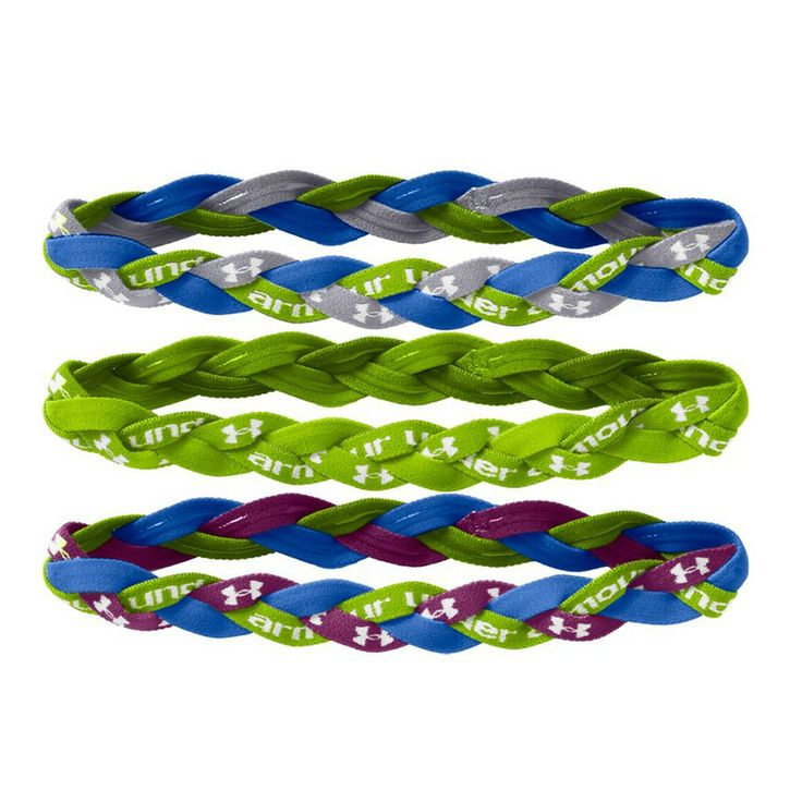 Under Armour Braided Mini Headbands 3 Pack Armours