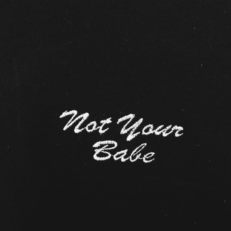 Just embroidered this using our kingstar embroidery machine. #notyourbabe