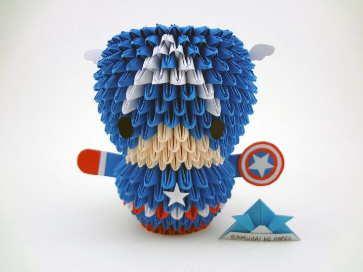 Origami 3D - Capitão América - The Avengers