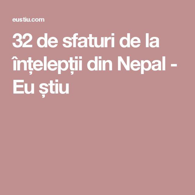 32 de sfaturi de la înțelepții din Nepal - Eu știu