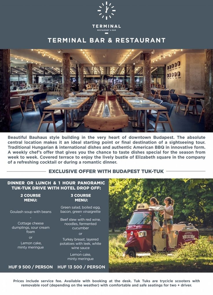 Special Offer for Terminal Restaurant