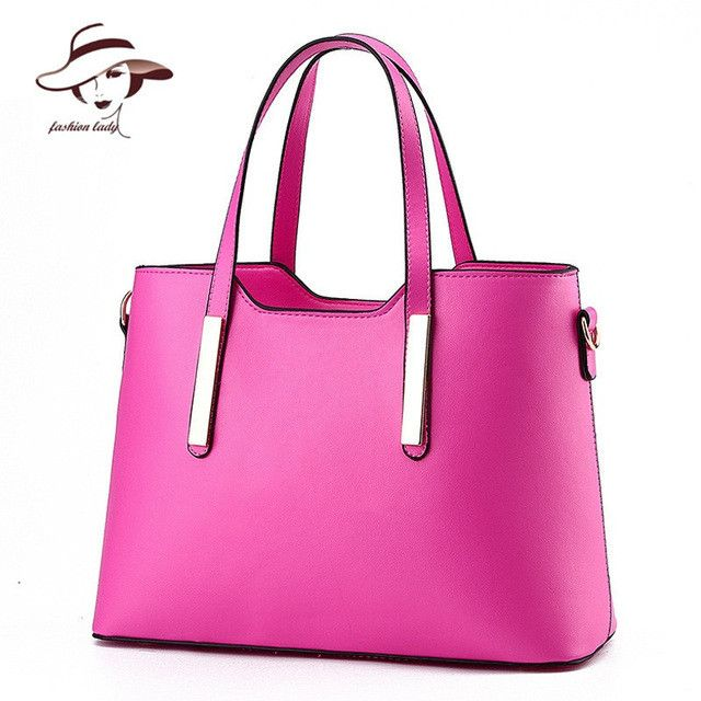 2017 new arrival fashion PU leather bag tote solid shoulder bag women handbag waterproof messenger bag famous brand women bag