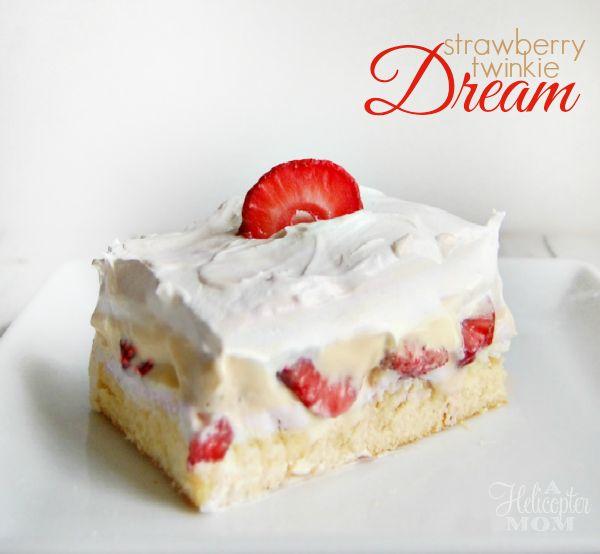 Strawberry Twinkie Dream Recipe - No Bake and tastes amazing