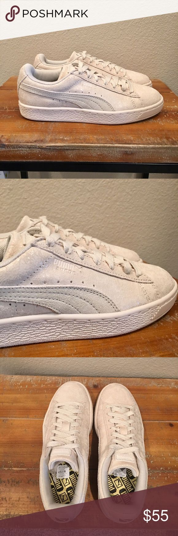 Women's Cream Suede Pumas Brand new. Never been worn. Beautiful cream Suede, cream laces on cream sole. These have a beautiful never seen before sheen to the suede👌🏼 No trades, no lowball offers, no joke.😊 Price is firm.🌹 Puma Shoes Sneakers